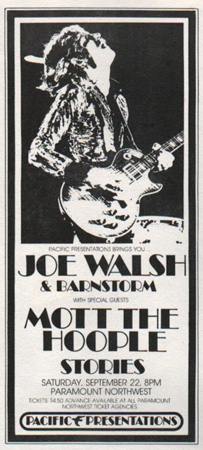 joe walsh eagles rare concert posters of the 60 39 s and 70 39 s postergeist. Black Bedroom Furniture Sets. Home Design Ideas