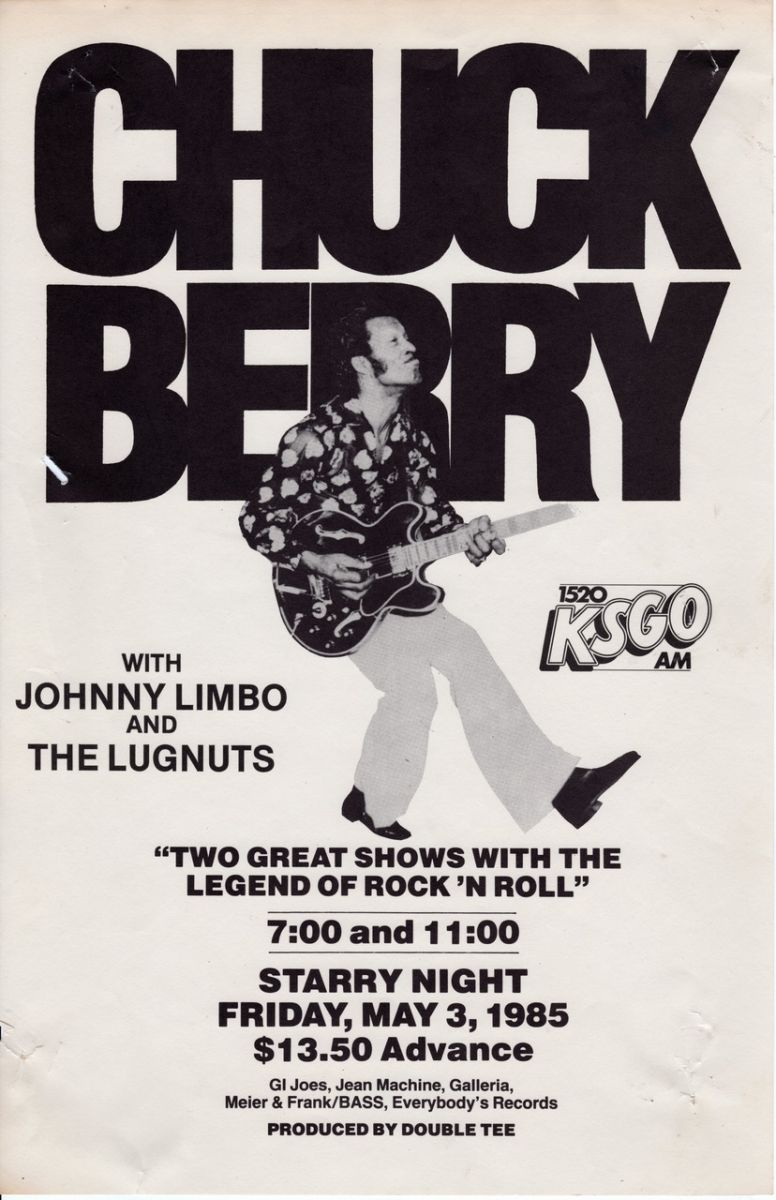 Chuck Berry Rare Concert Posters Of The 60 S And 70 S Postergeist