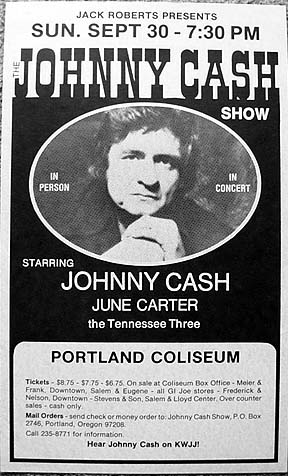 johnny cash rare concert posters of the 60 39 s and 70 39 s postergeist. Black Bedroom Furniture Sets. Home Design Ideas