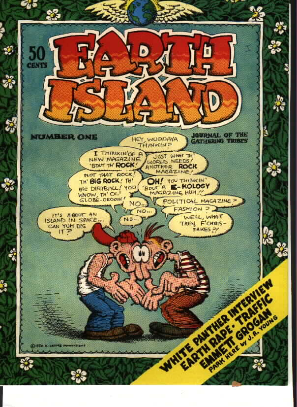 Full view of the r crumb earth island cover described above